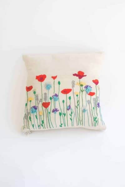 Poppy Cushion Cover in Red