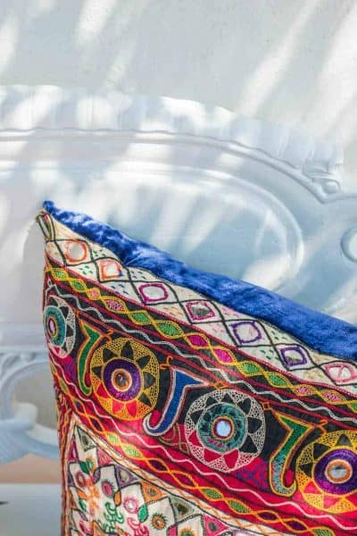 Vintage Rajasthani Fabric Cushion