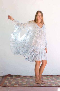 short blue summer dress with stars