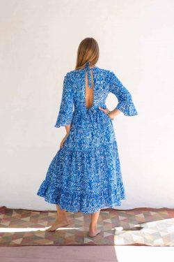 cotton dress in blue