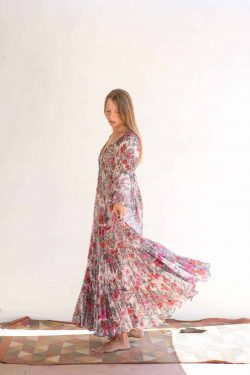 pink floral bohemian summer dress