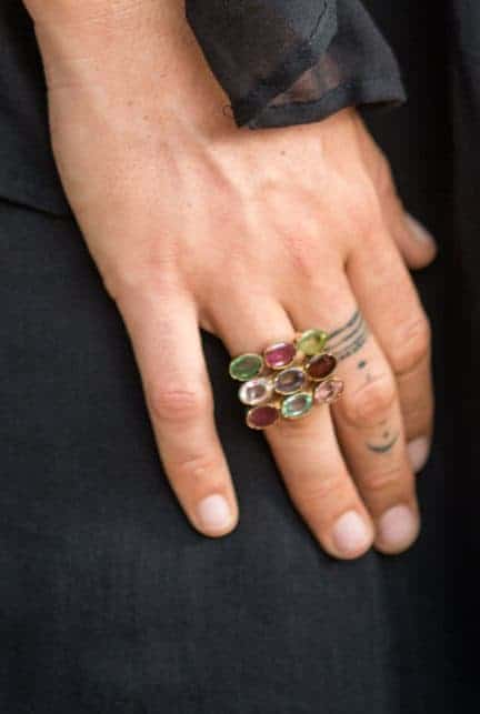 mixed tourmaline square ring