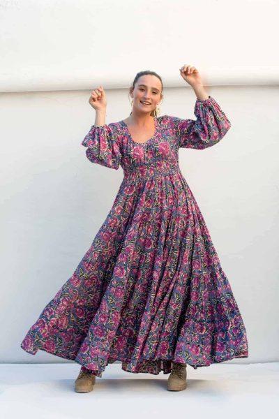 swirling in a maxi dress