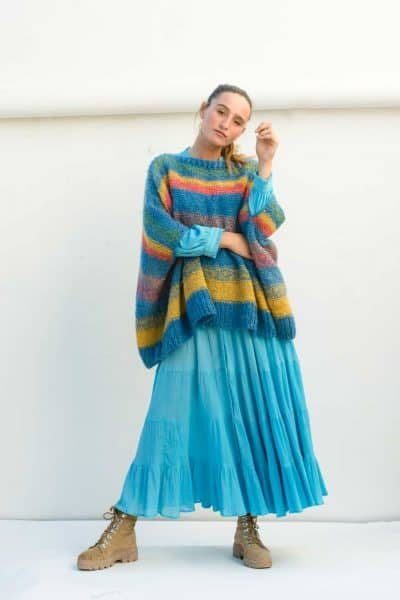 turquoise striped jumper
