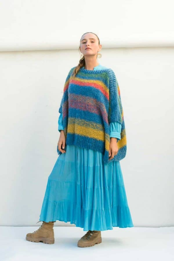 cosy mohair wool turquoise jumper