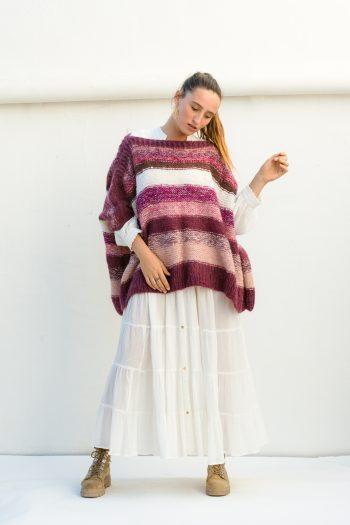 pink striped wool jumper