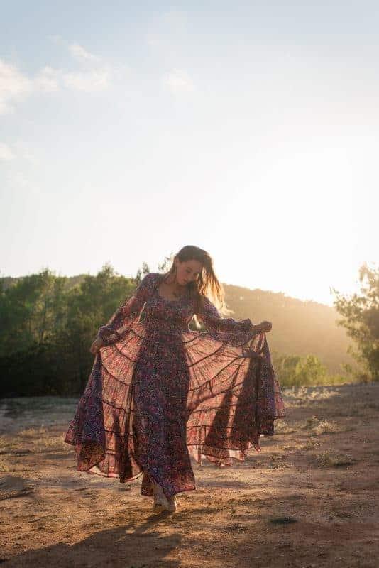 tiered bohemian dress