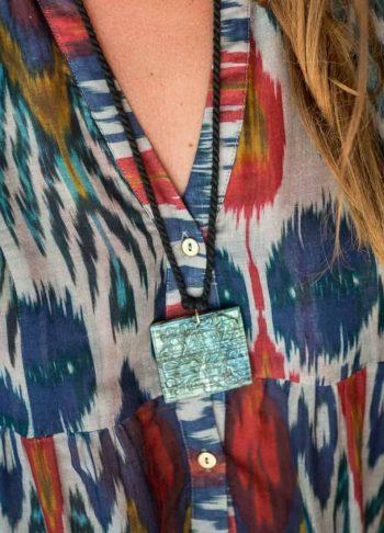 carved labradorite necklace