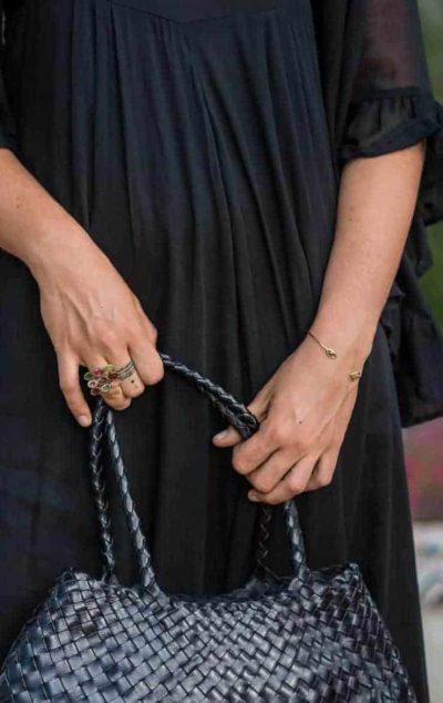 Adjustable bracelet with black diamond
