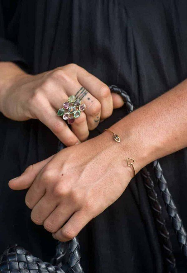 Gold adjustable bracelet