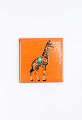 giraffe decoupage coaster