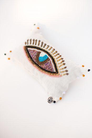 hand beaded eye cushion
