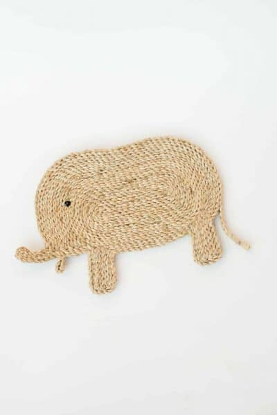Elephant placemat made from jute