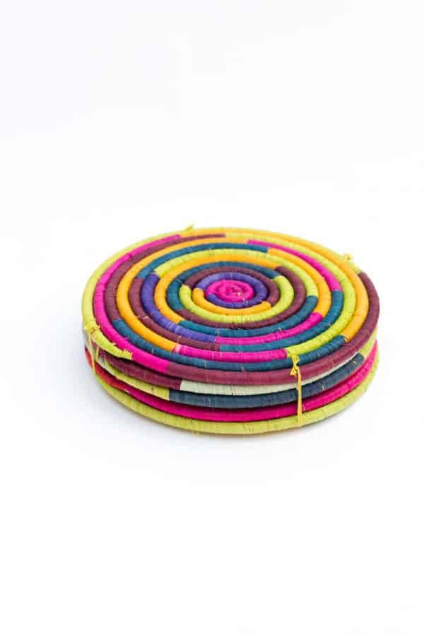 rainbow coloured placemats