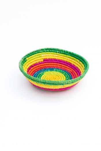 little basket in rainbow colours