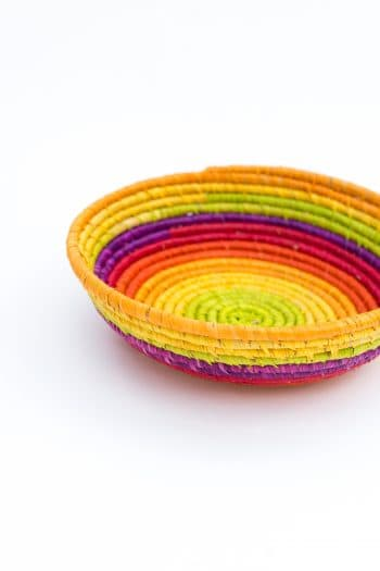 lovely raffia basket in bright colours