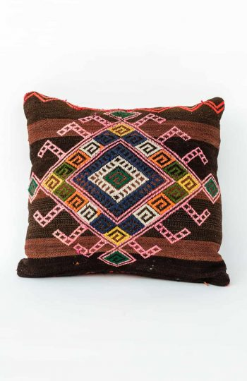 flatweave cushion in bright colours