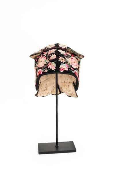 Chinese headdress with blossom embroidery