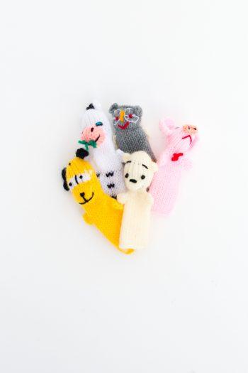 set of five finger puppets