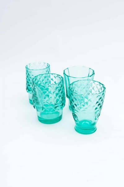 turquoise glass drinking glasses