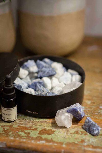 Mad et Len Blue Totem Crystals