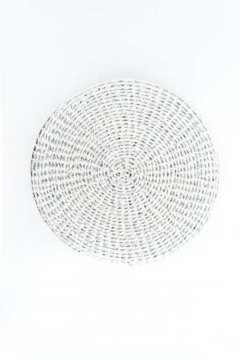 silver recycled plastic placemat