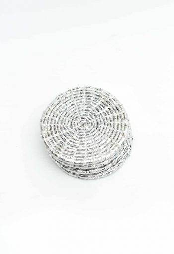 silver recycled coasters set of 4