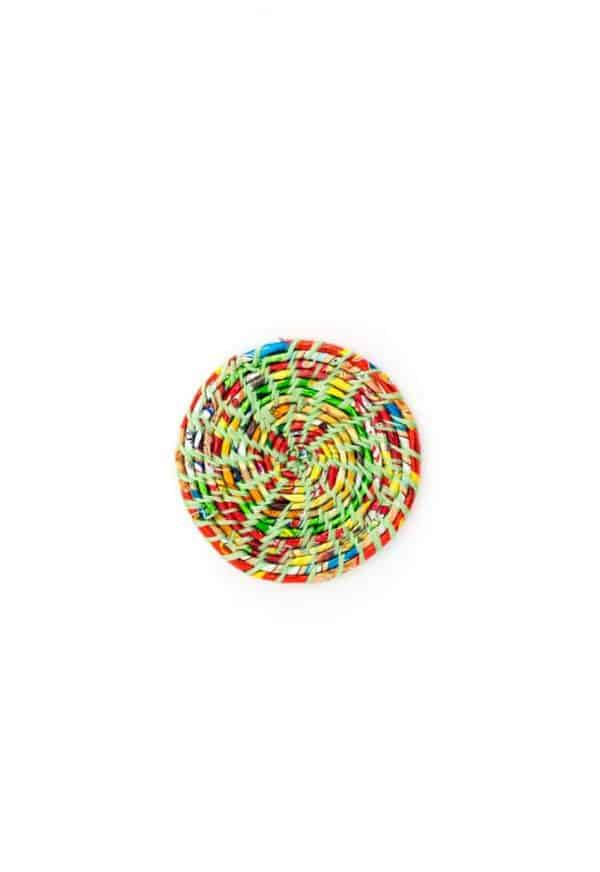 recycled colourful plastic coaster