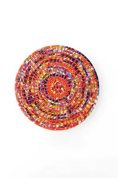 multicoloured recycled plastic placemat