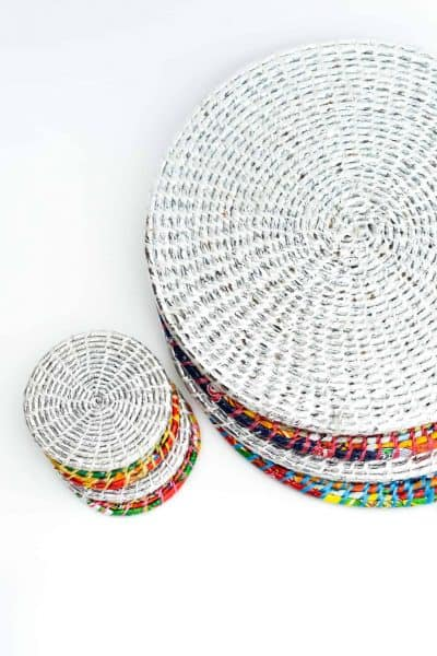 set of 4 coasters or placemats