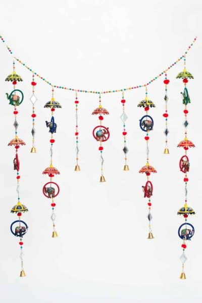 Hanging garland with elephants