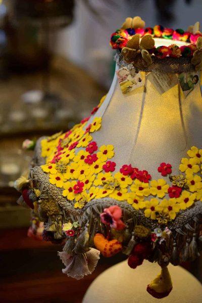 pretty hand decorated lamp