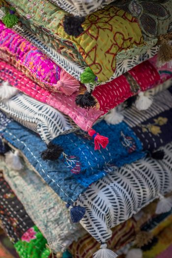 Kantha stitch on cotton mattresses