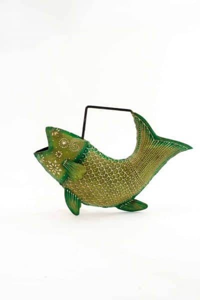 Green Fish Watering Can