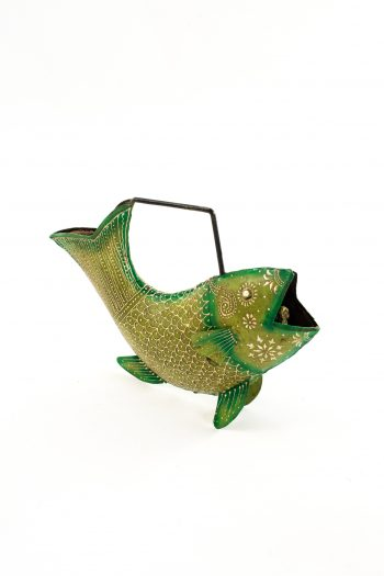 Hand painted fish watering can
