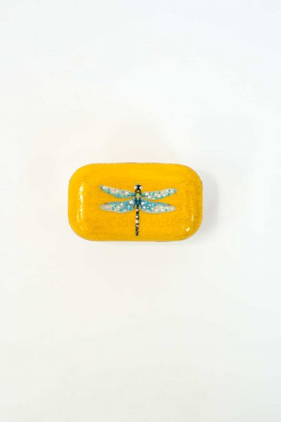 Yellow Dragonfly Decoupage Soap