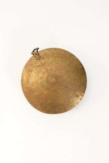 circular brass portable shrine