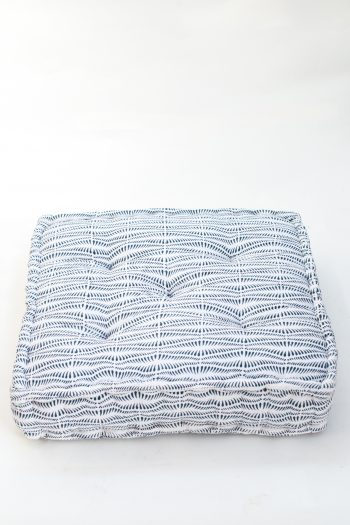 square floor cushion in white