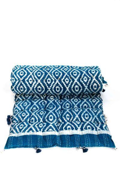 chill-out mattress in indigo print