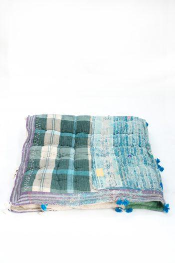 floor mattress in a patchwork cotton