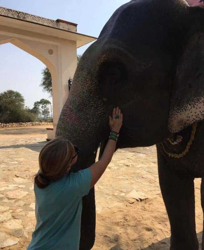 Victoria with an elephant