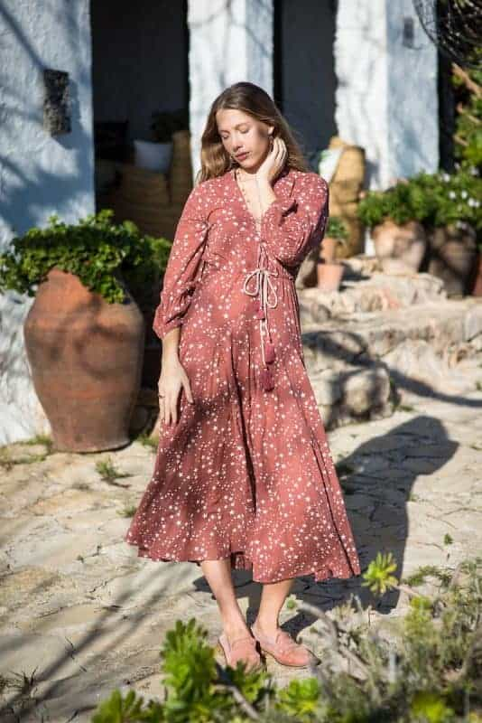 Starry print long dress