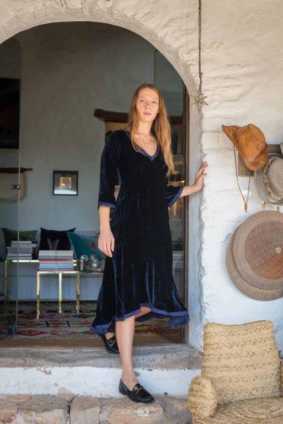 bias but silk velvet dress