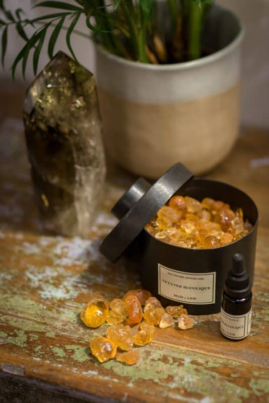 Scented amber resin