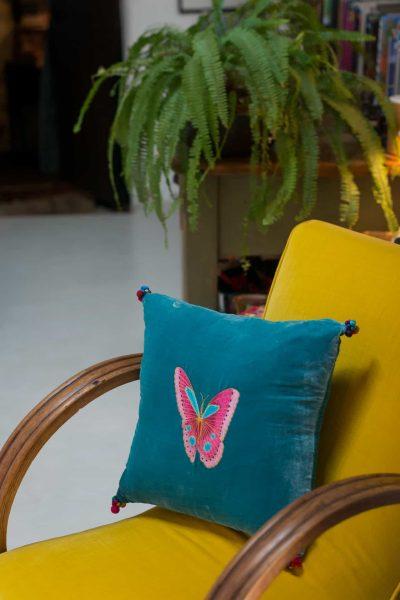Velvet Butterfly Cushion Cover