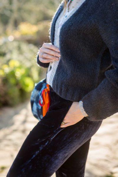Velvet Patch Pocket Trousers