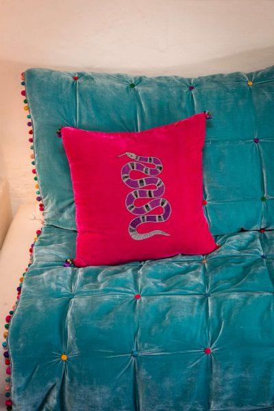 Velvet Snake Cushion