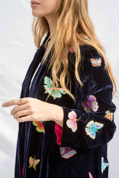 Velvet Butterfly Flying Jacket Naughty Navy
