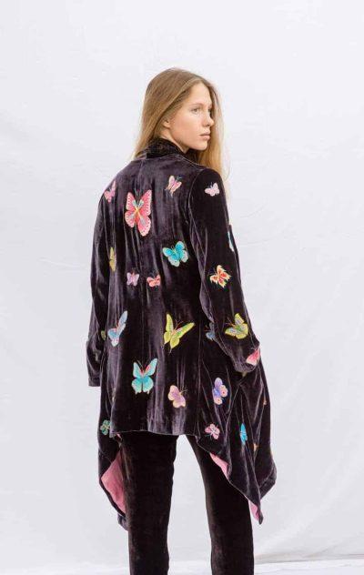 Velvet Butterfly Flying Jacket Dark Mauve