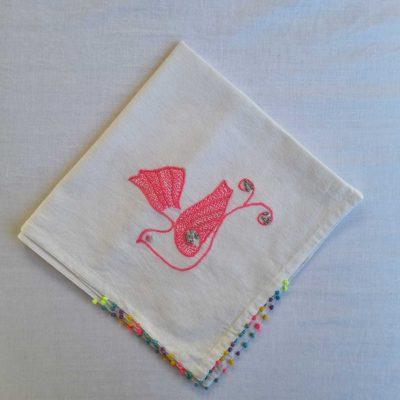 Pink Dove SEWA Tea Towel